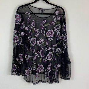 INC See Through Top - Size 3X